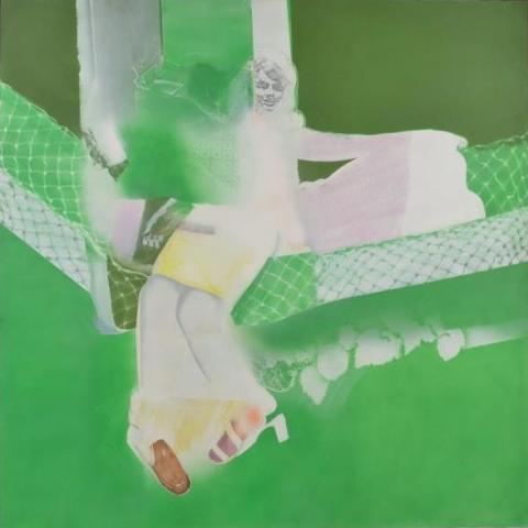 ハンモック (Hammock) 1970年 200号S 油彩、キャンバス 第34回新制作展新作家賞