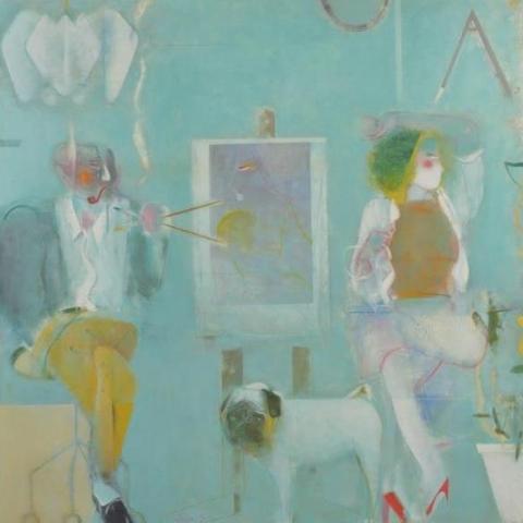 アトリエ (Atelier) 1985年 100号S 油彩、キャンバス 第49回新制作展