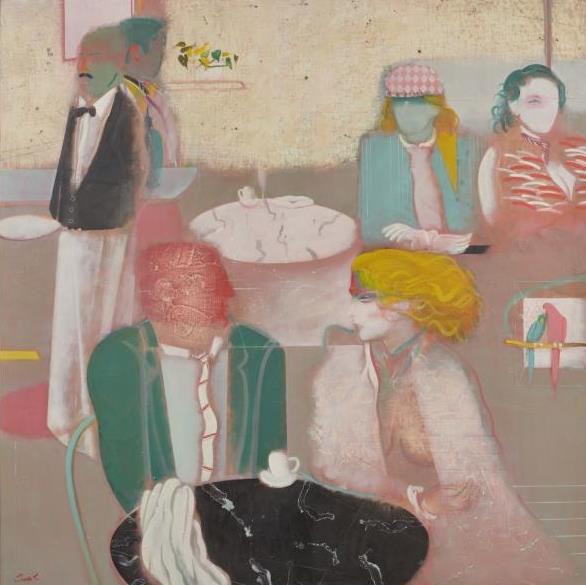 昼さがり (Early Afternoon) 1982年 100号S 油彩、キャンバス 第46回新制作展