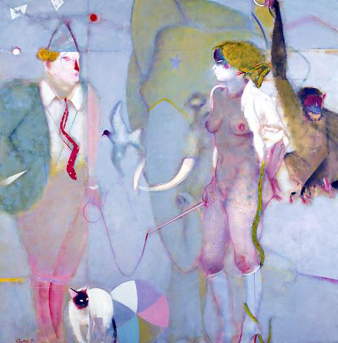 10) サーカス (Circus) 1985年 油彩 162x162cm ST001-P010