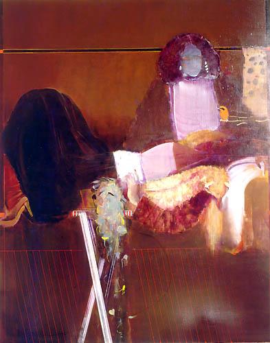 2) 室内 (In a room) 1977年 油彩 F100 ST001-P016