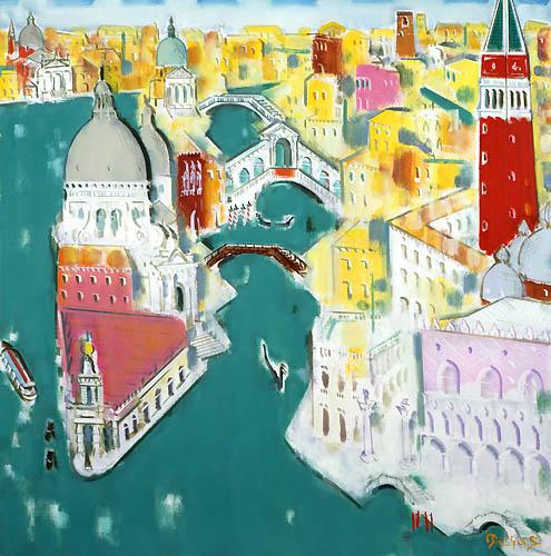 22) ベニス遠望 (Venice Distant View) 1989年 油彩 S30 ST001-P028