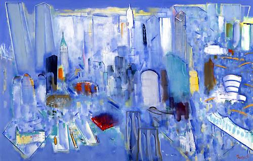 32) ニューヨーク(銀色の風)New York (Silver Wind) 1992年 油彩 F150 ST001-P043