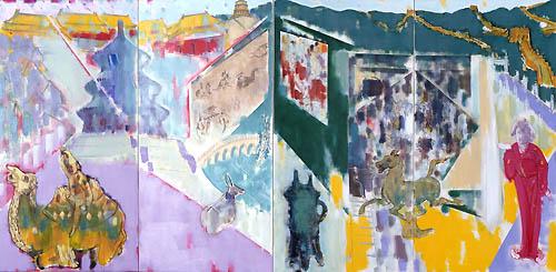 33) 北京憂愁 (Beijing Melancholy) 1992年 油彩 166.6x342㎝ ST001-P051