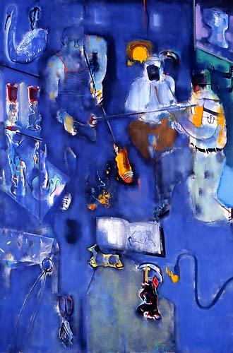 37) ベニスのガラス工房 (Venice Glass Studio) 1994年 油彩 F120 ST001-P053