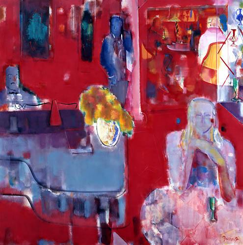 38) ベニスの赤い部屋 (Venice Red Room) 1995年 油彩 F150 ST001-P042