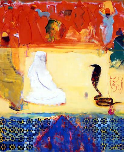 44) モロッコ・白い時間 (Morocco・White Time) 1998年 油彩 F150 ST001-P034