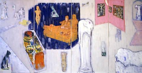 16) ルーブル美術館 (Louvre Museum) 1988年 油彩 166x340cm ST001-P015