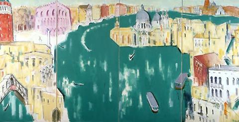 24) ベニス(大運河)Venice (Grand Canal) 1990年 油彩 166.0x340.0cm ST001-P017