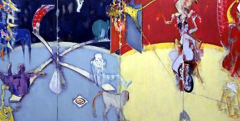 28) サーカス (Circus) 1991年 油彩 166x340cm ST001-P037