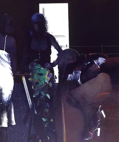 3) 青い室内 (In a blue room) 1977年 キャンバス・油彩 40F ST001-P023