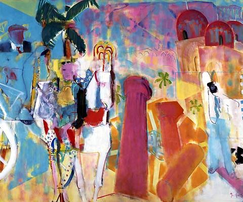 36) シシリーの光と風 (Sicily Light and Wind) 1994年 油彩 F150 ST001-P050