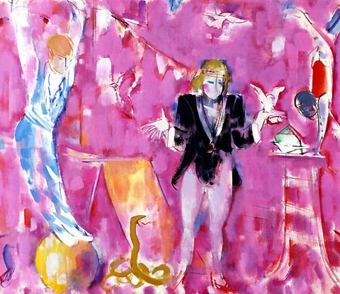 49) サーカス(鳥の声)Circus (Voice of bird) 1999年 油彩 80.0x100cm ST001-P045
