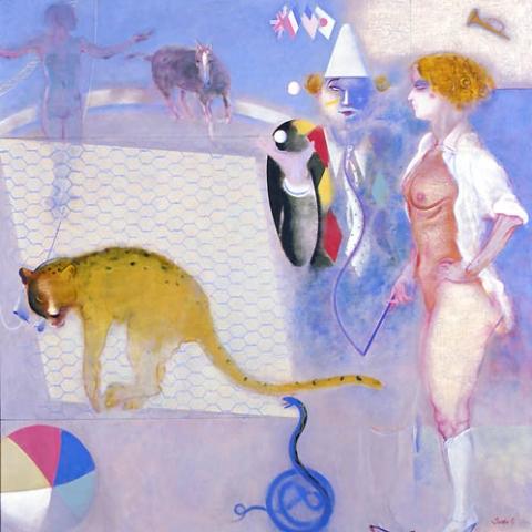 11) サーカス(男と女)Circus (Men and Women) 1985年 油彩 162x162cm ST001-P057