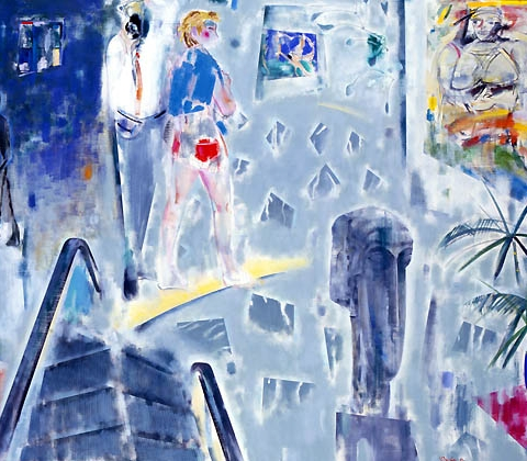 19) ニューヨークの美術館(風の音)New York Museum (Sound of Wind) 1988年 油彩 162x192cm ST001-P055