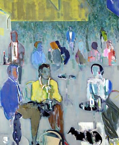 21) 朝のカフェテラス (Morning Cafe Terrace) 1989年 油彩 F100 ST001-P012