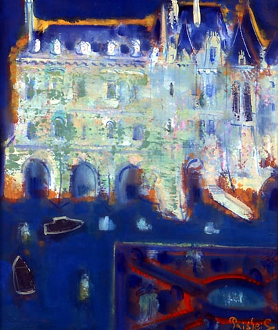 64) ロワールの城 (Loire castle) 2002年 油彩 F25 ST001-P049