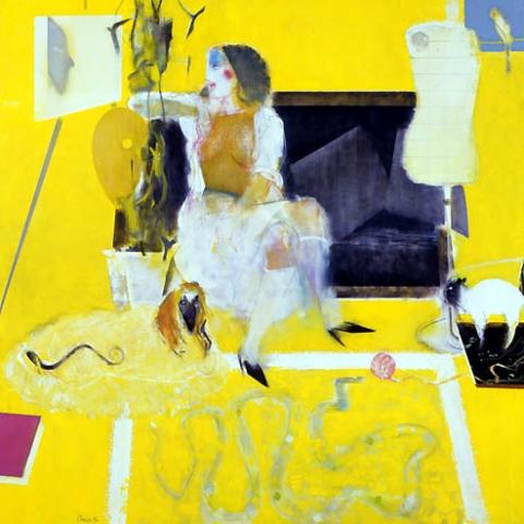 13) 午后のアトリエ (Afternoon Atelier) 1986年 油彩 162x162cm ST001-P036