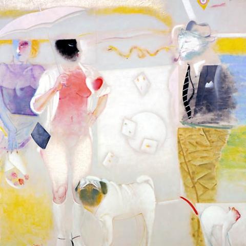 14) 男と女 (Men and Women) 1988年 油彩 162x162cm ST001-P001