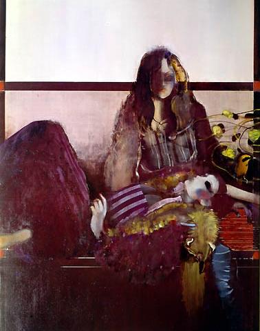 4) 室内二人 (Two of us in a room) 1977年 油彩 F30 ST001-P026