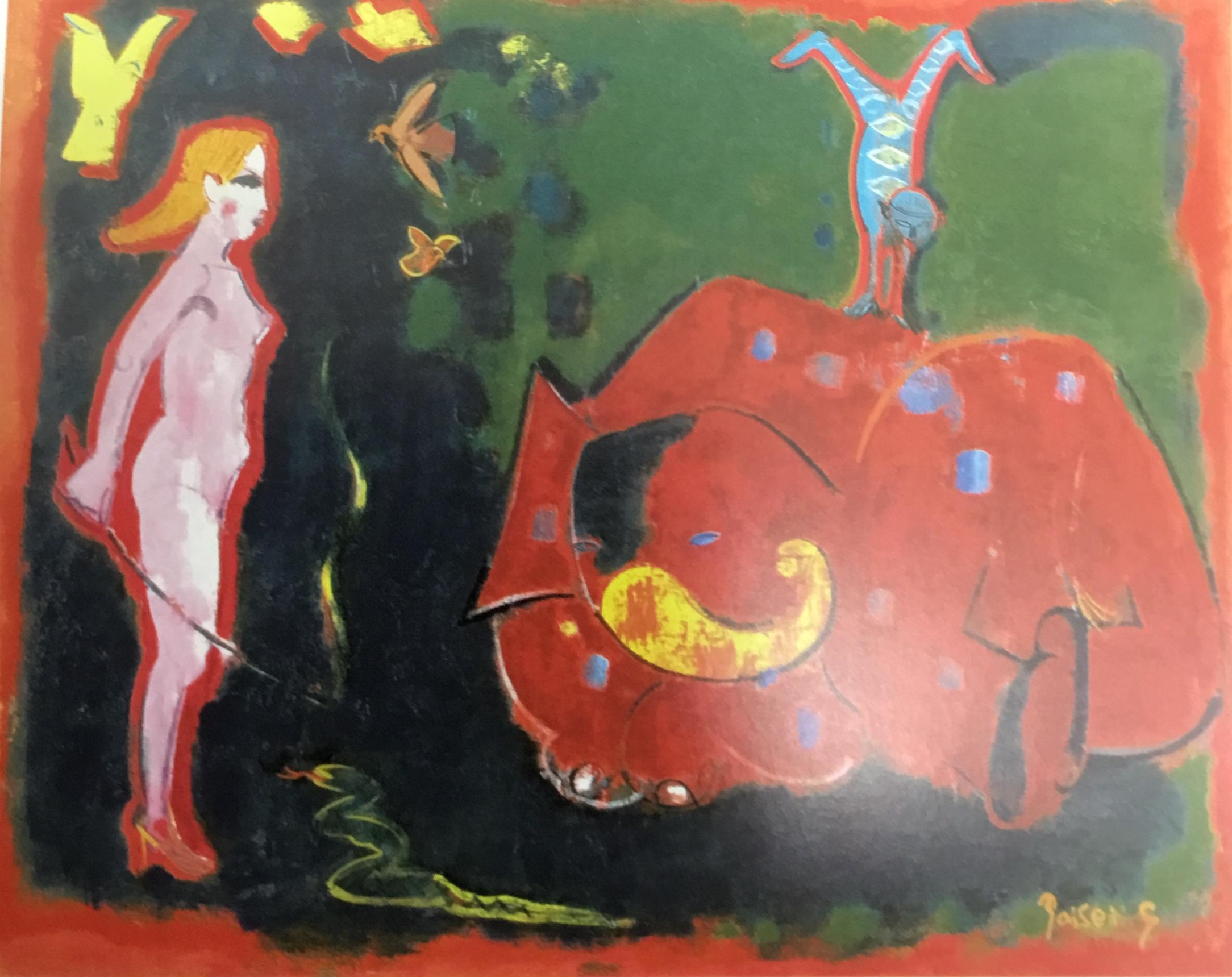 象と鳥と逆立ち (Elephant, birds, Handstand) 40F, 2005年